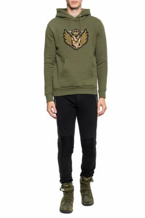 Sweatshirt with an application od Balmain