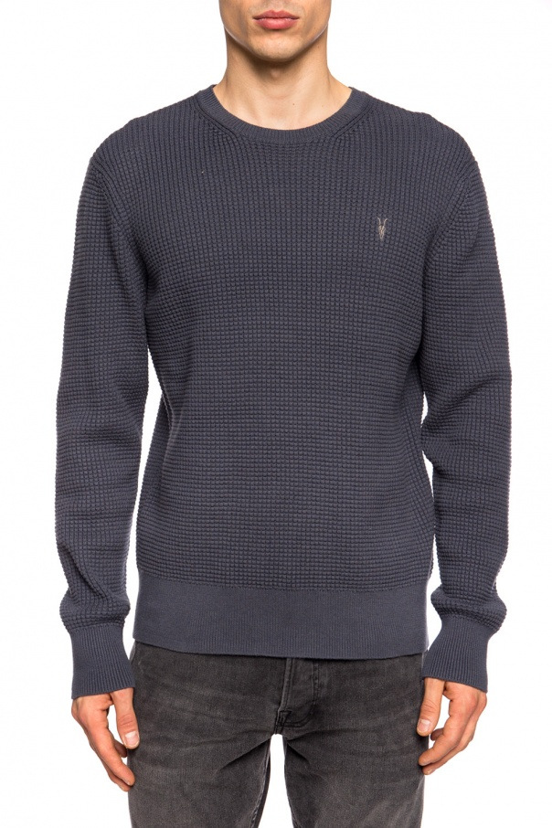 'wells' sweater with round neck od AllSaints