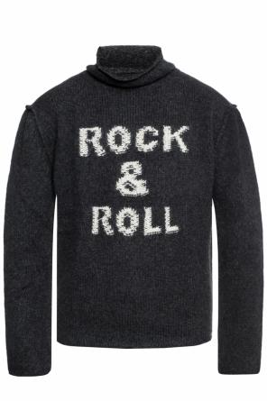 Embroidered lettering turtleneck sweater od Zadig & Voltaire