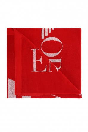 Logo-embroidered bath towel od EA7 Emporio Armani