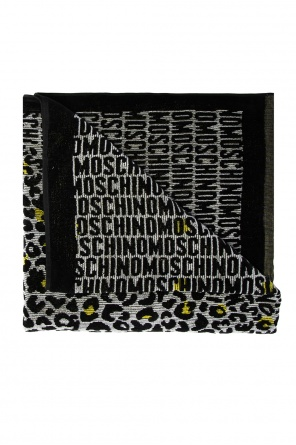 Patterned bath towel od Moschino