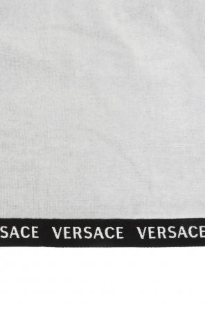 Logo-embroidered towel od Versace