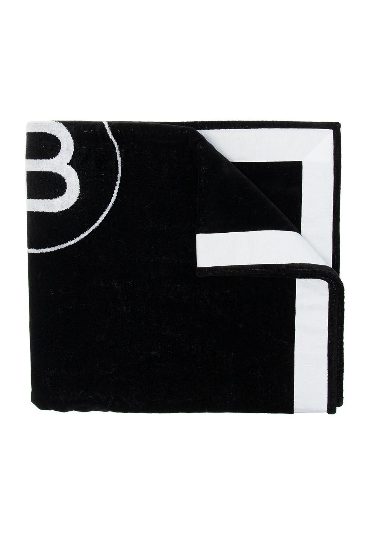 Balmain Beach towel with logo