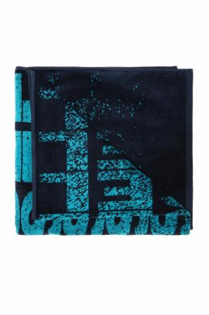 Bath towel with logo od Diesel