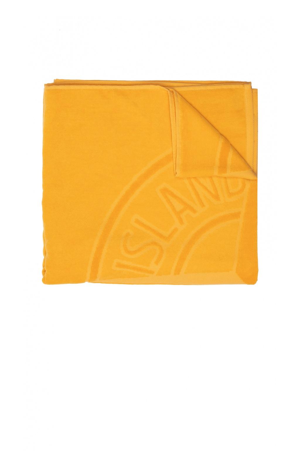 Stone Island Kids Towel with logo
