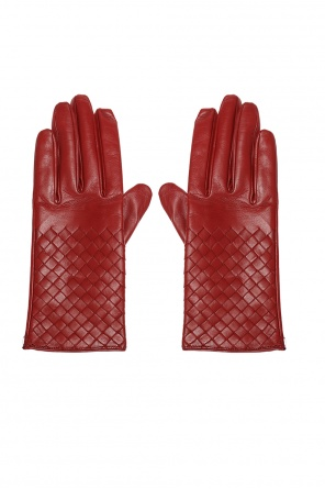 Leather gloves with an 'intercciato' braid od Bottega Veneta