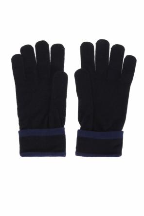 Logo-embroidered gloves od EA7 Emporio Armani