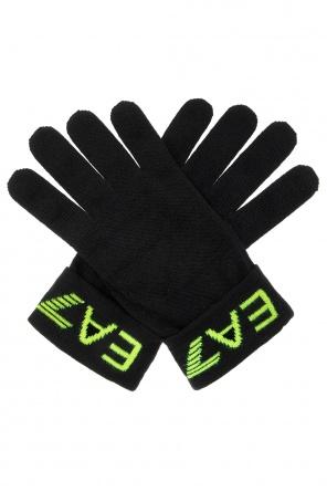 Gloves with logo od EA7 Emporio Armani