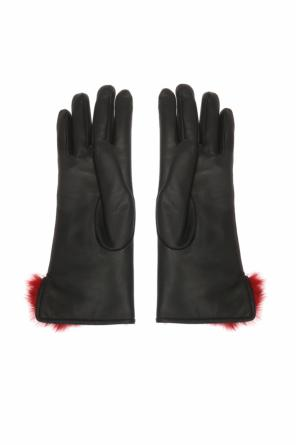 Fur-trimmed gloves od Salvatore Ferragamo