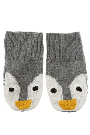 Penguin motif gloves od Stella McCartney Kids