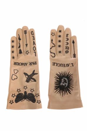 Embroidered gloves od Gucci