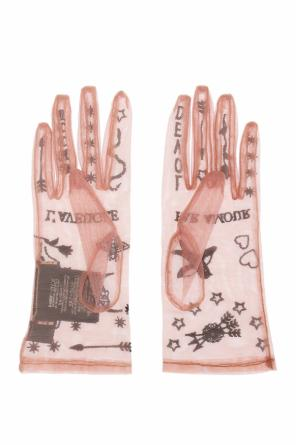 Embroidered sheer gloves od Gucci
