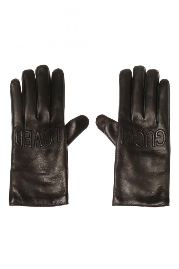 15b416877d7 Logo-embroidered gloves Gucci - Vitkac shop online