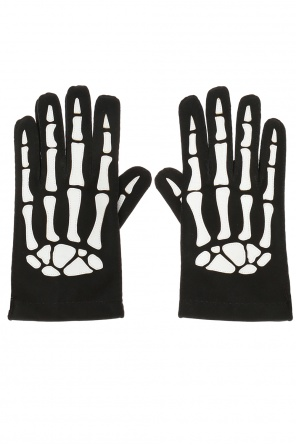 Skeleton motif gloves od Saint Laurent