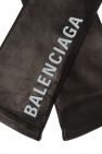 Branded gloves od Balenciaga