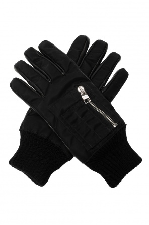 Leather gloves with pockets od Alexander McQueen