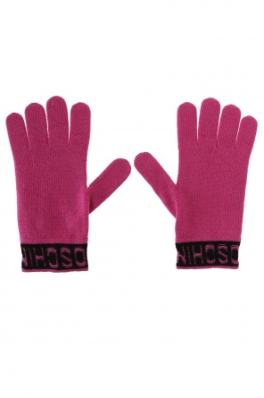 Logo gloves od Moschino