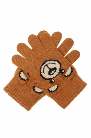 Teddy bear gloves od Moschino