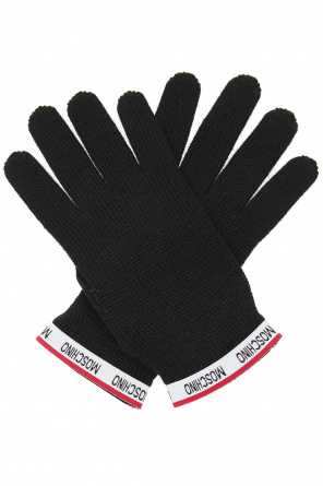Gloves with logo od Moschino