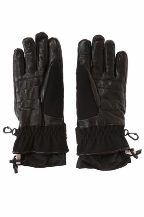 Gloves with leather trimming od Moncler Grenoble
