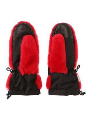 Gloves with coypu fur od Moncler Grenoble