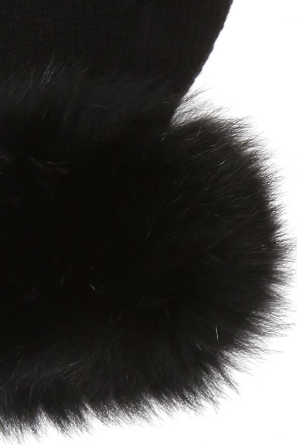 Fur-trimmed gloves od Moncler