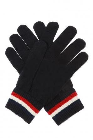 Wool gloves with logo od Moncler