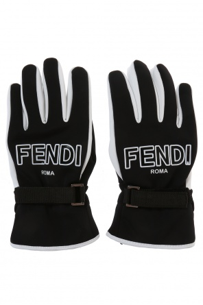 Logo ski gloves od Fendi