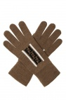 Fendi Wool gloves with logo