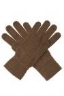 Fendi Wool gloves with logo
