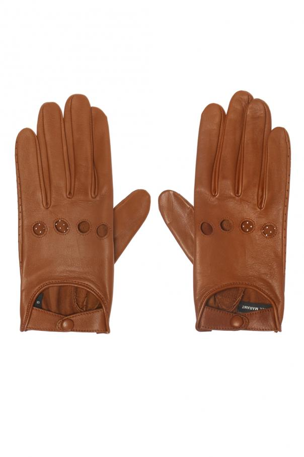Cut-out leather gloves od Isabel Marant