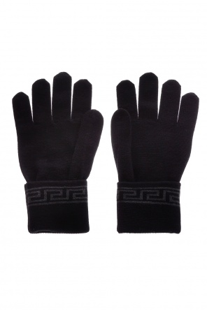 Embroidered gloves od Versace
