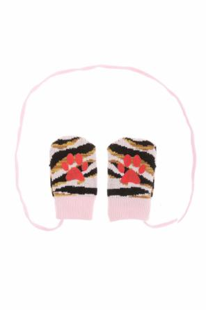 Patterned gloves with strings od Kenzo Kids