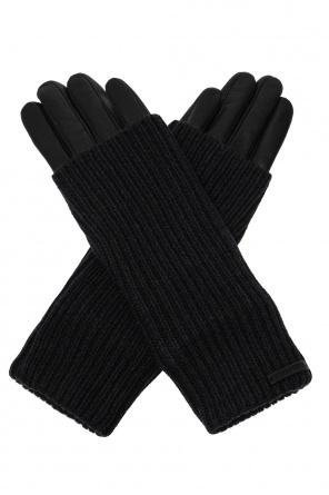 'knit' leather gloves od AllSaints