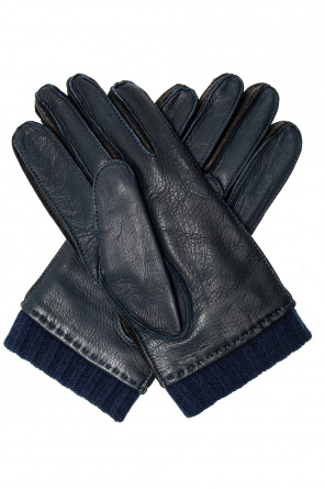 Distressed leather gloves od Paul Smith