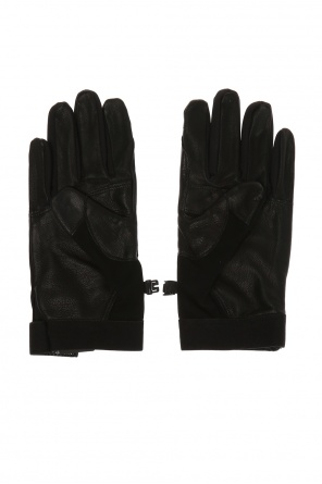 Gloves with a leather finish od Stone Island