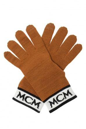 Wool gloves with logo od MCM