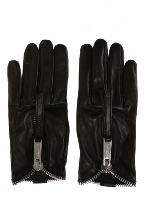 Leather gloves with zipper od Dsquared2