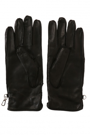 Patched gloves od Dsquared2
