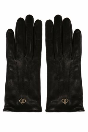 Leather gloves with logo od Dsquared2