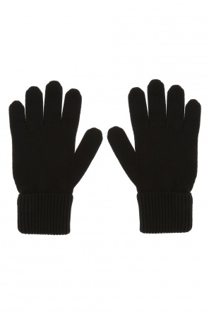 Gloves with round patch od Dsquared2