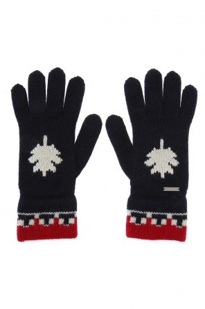 Logo-embroidered gloves od Dsquared2