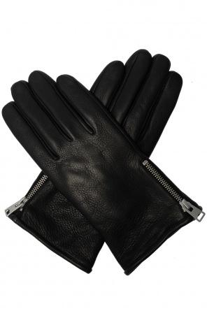 Skórzane rękawiczki 'zipper' od AllSaints