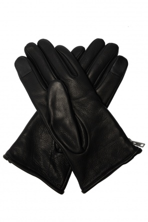 'zipper' leather gloves od AllSaints