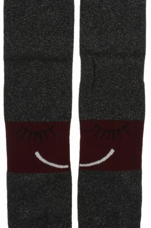 Emoji-embroidered pantyhose od Stella McCartney Kids