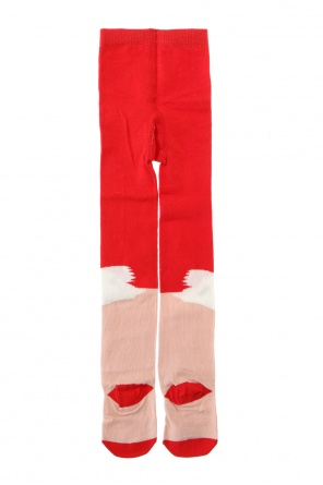 Swan motif tights od Stella McCartney Kids