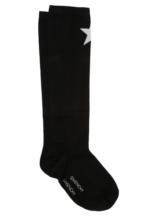 Givenchy Długie skarpety z wyszytą gwiazdą