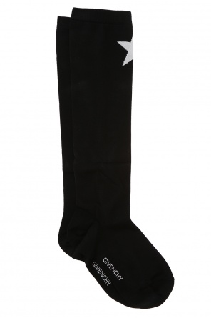 Embroidered star long socks od Givenchy