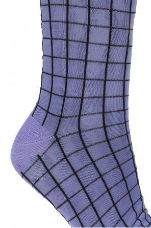 Checked silk socks od Haider Ackermann