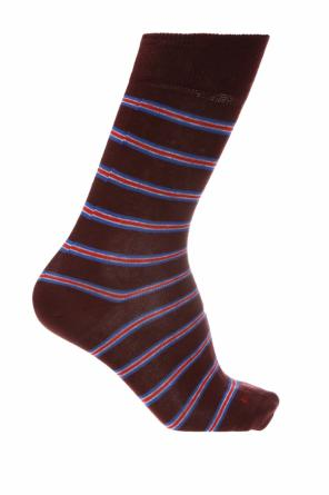 Embroidered striped socks od Etro